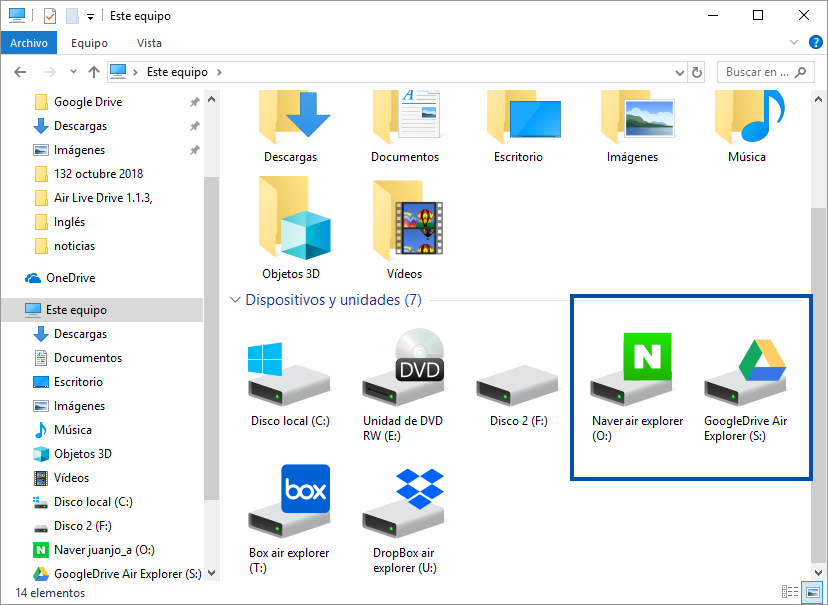 How to transfer data from Google Drive to Naver