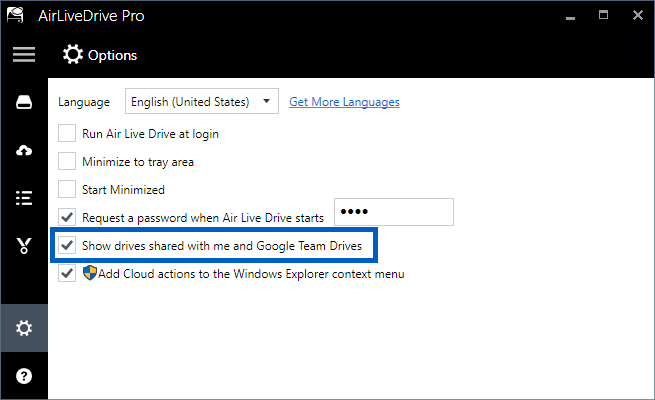 Added support for Google Team Drives in Air Live Drive - Air